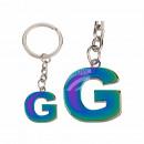 Fém kulcstartó, Rainbow Letter G