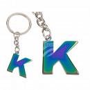 Fém kulcstartó, Rainbow Letter K