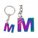Portachiavi in metallo, Rainbow Letter M