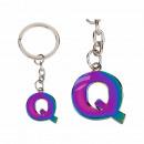 Fém kulcstartó, Rainbow Letter Q