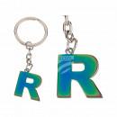 Fém kulcs fob, Rainbow Letter R