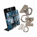 Metal finger holder for Handy , alphabet