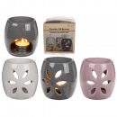 wholesale Fragrance Lamps: Ceramic aroma lamp, approx. 10 x 7 cm, 3-color sor