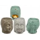 wholesale Home & Living: Ceramic aroma lamp, Buddha , approx. 9 x 11 cm, ...