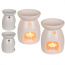 wholesale Fragrance Lamps: White ceramic aroma lamp, approx. 13 x 10 cm