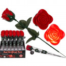 wholesale Artificial Flowers: Red plastic rose with color changing LED