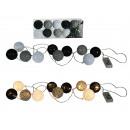 groothandel Lichtketting: Lichte ketting met  zwart / wit / grijs rotan balle