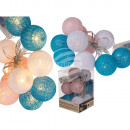 wholesale Light Garlands: Fairy lights with pink, white & blue