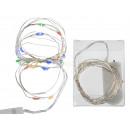 groothandel Lichtketting: Wire lampen met 20  kleurrijke LED (incl. Batter
