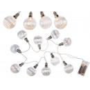 Großhandel Lichterketten: Glas-Lichterkette  mit 10 warmweißen LED, ca. 5 cm,