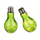 Green glass light bulb, with 10 LEDs (including ba