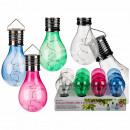 mayorista Casa y decoración: Bombilla de color de plástico con células solares