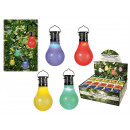 Colored plastic bulb with LED & Solar cell