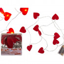 wholesale Light Garlands: Fairy lights, felt hearts, with 10 warm white LEDs