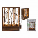 Natural wood deco frame with branches & 10 war