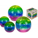 Colorful glass ball with 10 LED, about 12 cm, 2 ti