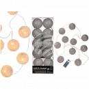 groothandel Lichtketting: Kerstverlichting met witte, katoenen ballen