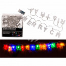 wholesale Light Garlands: Fairy lights, Merry Christmas, with 14 colorful LE