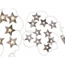 Wood fairy lights, star, with 10 warm white LEDs