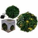 Decorative boxwood ball with 20 warm white LED