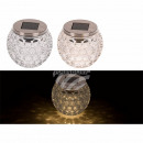 Decorative glass with solar cell & LED (includ