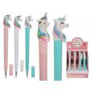 Plastic pen, unicorn, about 16 cm