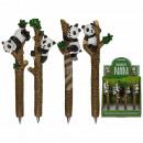 Stylo à bille en polyrésine, ours panda, environ 1
