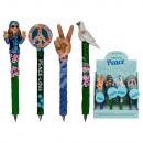 Polyresin pen, Peace-Hippie, ca. 17 cm