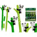 Stylo en plastique, Panda, environ 16 cm, 2 couleu