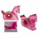 Plastic dispenser with adhesive tape, unicorn, in