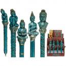 Polyresin pen, Thai Buddha , ca. 16 cm,