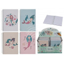 Großhandel Schulbedarf: Spiral-Buch, Meerjungfrau, A6-Format mit 80 ...