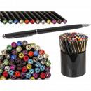 Black metal ball pen with Swarovski Stei