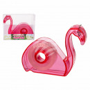 Plastic dispenser with tape, Flamingo, in PV