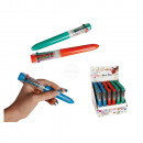 Ball Pen with 10 coloured cartridges, ca. 16 cm, 3