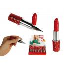Lipstick Ball Pen, ca. 10 cm, 24 pcs. per display