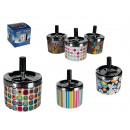 grossiste Cendriers: Cendrier rotatif  en métal,  Multicolore, 6 ...