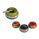 wholesale ashtray: Ceramic storm ashtray, Stripes, ca. 11 x 6 cm, 4 c