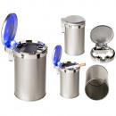 groothandel Asbakken: Metalen asbak met LED (inclusief batterij)