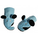 Washing glove, blue Elephant, cotton material with