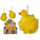 mayorista Ducha y baño: esponja de nylon, pato de goma, 15 cm, 12 St