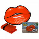 Beach towel, kiss mouth, 100% polyester