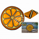 Beach towel, orange, 100% polyester , D: about 150