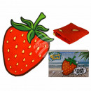 Beach towel, strawberry, 100% polyester