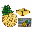 Beach towel, pineapple, 100% polyester