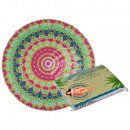 wholesale Bath & Towelling: Beach towel, neon mandala, 100% polyester