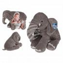 Plush cuddly cushion, elephant, approx. 53 x 45 cm