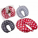 Neck pillow with micropellet filling, dots