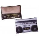 Deko -Pillows, retro radio, 100% polyester, ca. 25