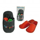 wholesale Shoes: Jumbo felt  slipper, Welcome,  with 4 pairs of ...